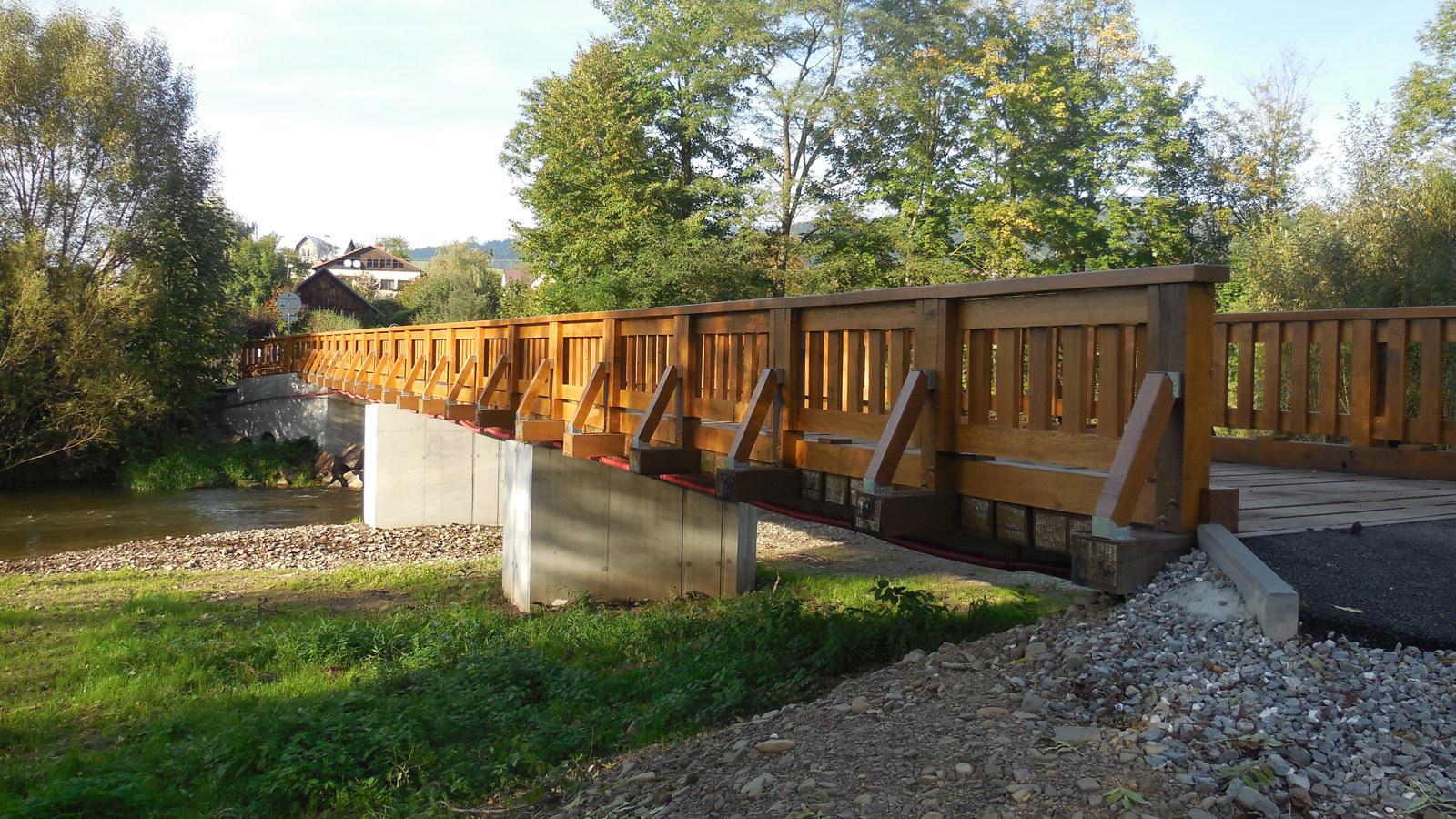 Most přes Olši –  obec Písek